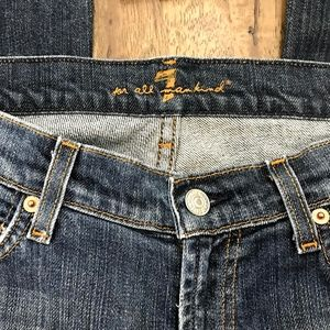 7 For All Mankind Jeans - 7 For All Mankind Dark Wash Boot Cut Jeans 28